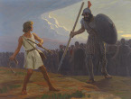 David and Goliath (by Gebhard Fugel)