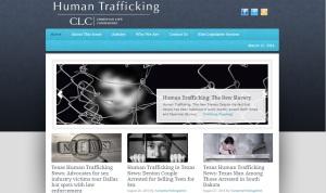 Human trafficking web page