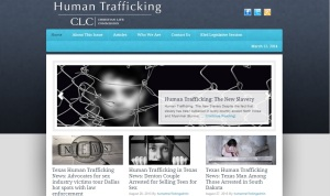 Human trafficking web page
